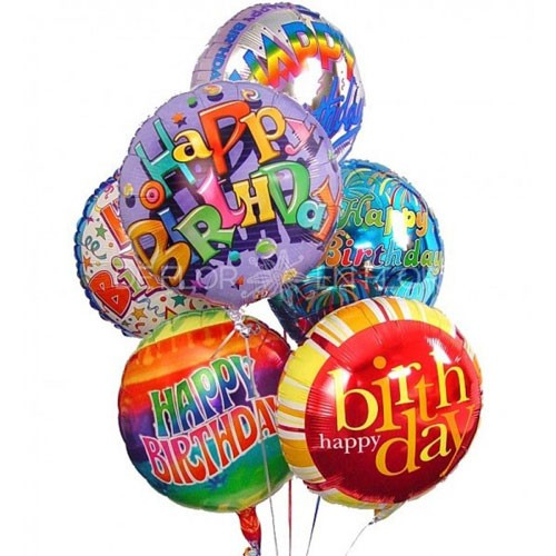 Send 6 Metallic Helium Filled Birthday Balloons To Kuwait