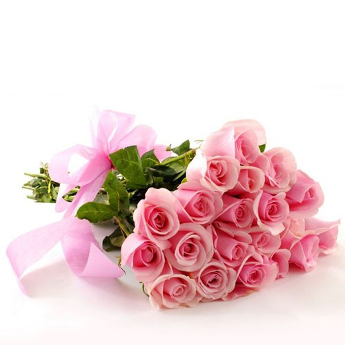Send To Mum Our 20 Pink Roses In A Bouquet To Qatar
