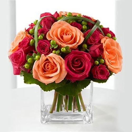Send irresistible a dash of colors from hot pink to orange roses to imagine the irresistible sense of loads when your recipient opens the package to this dash of color from hot pink rose to bright orange rose mightylinksfo